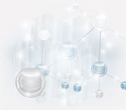 Abstract composition. Abstract scientific vector with realistic molecule Stock Photos