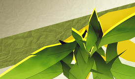 Abstract composition. With green elements stock illustration