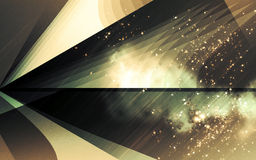 Abstract composition. Abstract background design with dark stars and space stock illustration