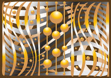 Abstract composition of the balls and curves.Illus Royalty Free Stock Image