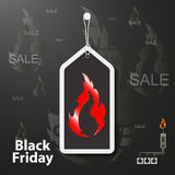 Abstract composition, black friday event, best offer flyer foundation Stock Photo