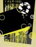 Abstract composition -black and yellow Stock Photography