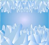 Abstract composition with blue crystals of ice stock image