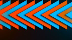 Abstract composition of bright arrows. Seamless loop Royalty Free Stock Photos