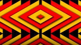 Abstract composition of bright arrows. Seamless loop Royalty Free Stock Photo
