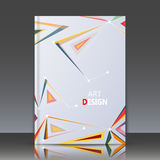 Abstract composition, a4 brochure title sheet, geometric shape, line ornament, triangle connecting, logo construction backdrop, bu Stock Image