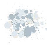 Abstract composition of brush blots Stock Photos