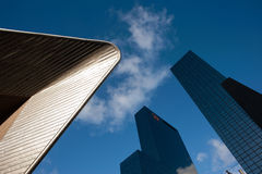 Abstract composition of buildings Royalty Free Stock Images