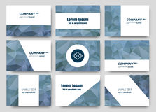Abstract composition, business card set, correspondence letter collection, brochure title sheet, certificate, diploma, patent, cha. Rter, figure frame surface Stock Images