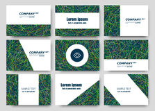 Abstract composition, business card set, correspondence letter collection, brochure title sheet, certificate, diploma, patent, cha. Rter, figure frame surface Royalty Free Stock Images