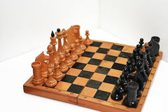 Abstract composition of chess figures. Stock Image