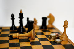 Abstract composition of chess figures. Royalty Free Stock Photo