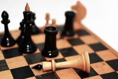 Abstract composition of chess figures. Stock Photo