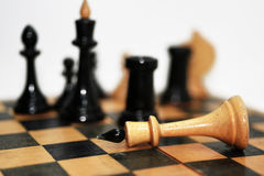 Abstract composition of chess figures. Stock Images