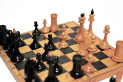 Abstract composition of chess figures. Stock Photos