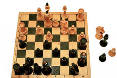 Abstract composition of chess figures. Royalty Free Stock Photos
