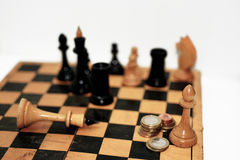 Abstract composition of chess figures. Stock Photography
