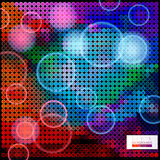 Abstract composition of circles of different colors. Colorful mosaic background.geometric shapes on a dark background.Bokeh effect and blurred circle Royalty Free Illustration