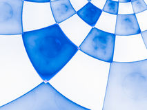 Abstract composition with circular checkered Royalty Free Stock Photo