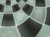 Abstract composition with circular checkered pattern Royalty Free Stock Photography