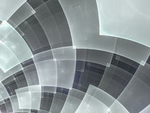 Abstract composition with circular checkered pattern Stock Image