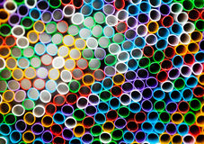 Abstract composition with cocktail straws Royalty Free Stock Photo