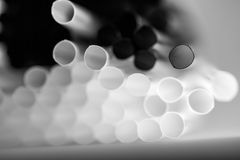 Abstract composition with cocktail straws Stock Images