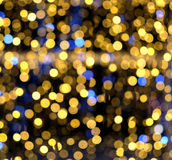 Abstract composition from colored defocused round lights Stock Image