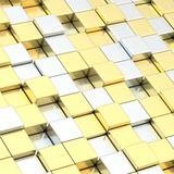 Abstract composition of cube blocks Royalty Free Stock Image