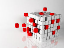 Abstract composition with the cubes Royalty Free Stock Photos