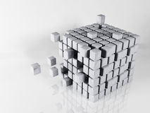 Abstract composition with the cubes Royalty Free Stock Photo