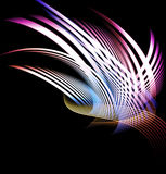 Abstract composition of curved bands. Beautiful abstract composition of curved bands on a dark background Stock Illustration