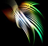 Abstract composition of curved bands Royalty Free Stock Photography