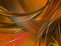 Abstract composition with curves, lines, gradients. And colorful details Stock Photography