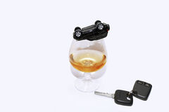 Abstract composition of drink driving. Stock Photography