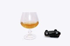 Abstract composition of drink driving. Royalty Free Stock Image