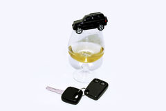 Abstract composition of drink driving. Stock Images