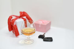 Abstract composition of drink driving. Royalty Free Stock Images