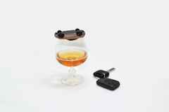 Abstract composition of drink driving. Stock Image