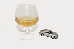 Abstract composition of drink driving. Stock Photo