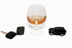 Abstract composition of drink driving. Royalty Free Stock Photos