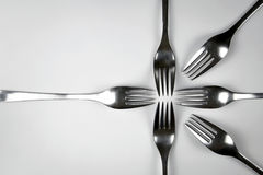 Abstract composition of forks Stock Photography
