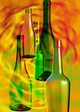 Abstract composition of glass bottles_2 Royalty Free Stock Images