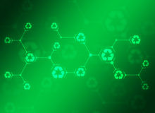 Abstract composition of green lines and recycling Royalty Free Stock Images