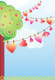 Abstract composition with hearts. Abstract composition with red hearts Stock Images