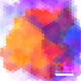 Abstract composition of hexagons  of geometric shapes. Royalty Free Stock Photography