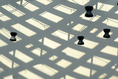 Abstract composition with lamp and shadow. On the wall Stock Photo