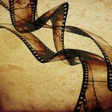 Movie frames or film strip. Abstract composition of movie frames or film strip Stock Photos