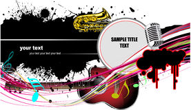 Abstract composition with music images Royalty Free Stock Images