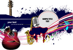 Abstract composition with music images Stock Photography